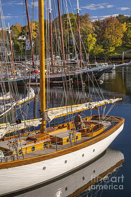 Photograph - Readying For An Autumn Sail by Brian Jannsen