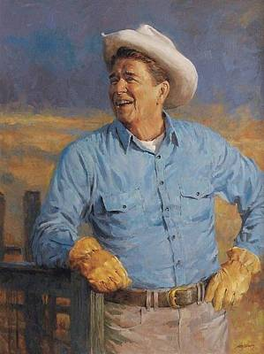 Digital Art - Reagan by Andy Thomas