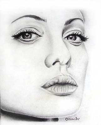 Drawing - Real Angelina by Atinderpal Singh