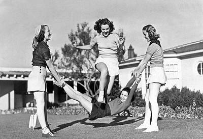 Real College Swingers Art Print by Underwood Archives