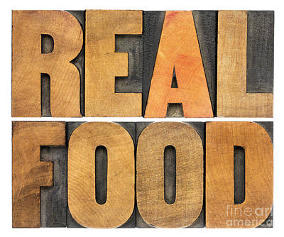 Real Food Art Print