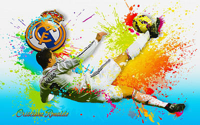 Real Madrid - Cr Art Print
