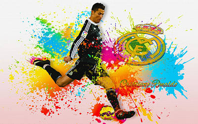 Real Madrid - Portuguese Forward Cristiano Ronaldo Art Print