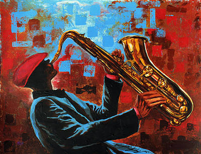 Saxaphone Painting - Real Saxy by The Art of DionJa'Y