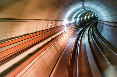Photograph - Real Tunnel With High Speed by Fredfroese