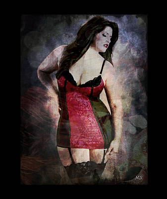 Real Woman Real Curves Art Print by Absinthe Art By Michelle LeAnn Scott