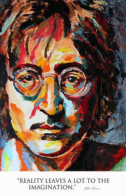 Derek Russell Wall Art - Painting - Reality Leaves A Lot To The Imagination. John Lennon by Derek Russell