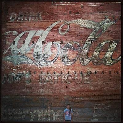 Really Old Coke Mural, Coleman Tx Art Print