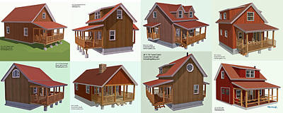 Digital Art - Realm Gallery Cabin Designs by Duane McCullough