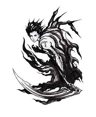 Drawing - Reaper by Miguel Karlo Dominado
