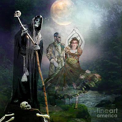 Grim Mixed Media - Reaper's Masquerade by Tammera Malicki-Wong