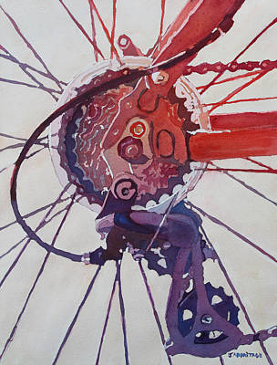 Bicycle Painting - Rear Derailleur by Jenny Armitage