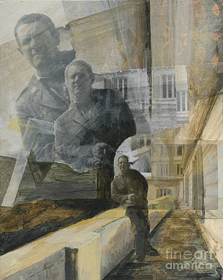 Wall Art - Mixed Media - Rear Porch Of Hotel On Isle Of Capri by Ellen Moore Osborne