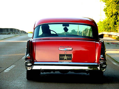 Old Car Photograph - Rear View  by Mark Moore
