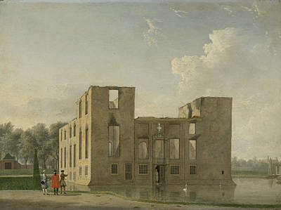Rear View Drawing - Rear View Of Berckenrode Castle In Heemstede After The Fire by Litz Collection