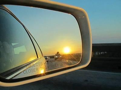 Rear View Sunset Art Print by Deborah Lacoste