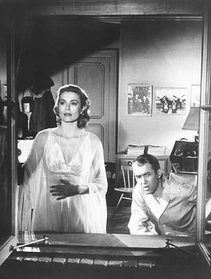 Films By Alfred Hitchcock Photograph - Rear Window, From Left Grace Kelly by Everett