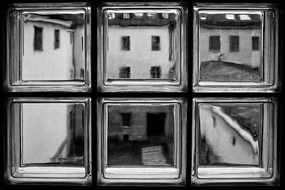 Mirror Glass Photograph - Rear Window by Roswitha Schleicher-schwarz