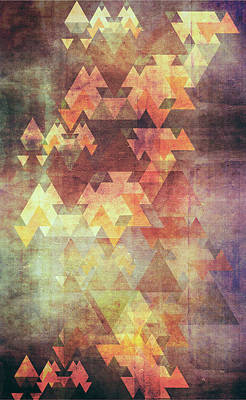 Triangles Digital Art - Rearrange The Sky by VessDSign