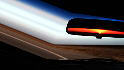 Rearview Sunset Art Print