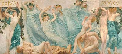 Reawakening Print by Sartorio Giulio Aristide