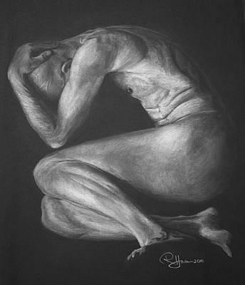 Male Nude Drawing Drawing - Reawakenings by Rachel Hames