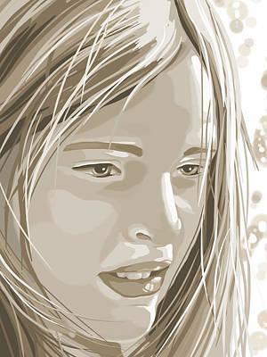 Rebecca Art Print by Veronica Minozzi