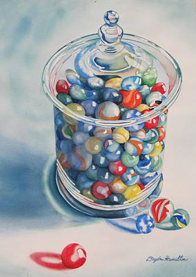 Painting - Rebecca's Marbles by Daydre Hamilton