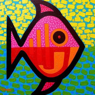Irish Painting - Rebel Fish  II by John  Nolan