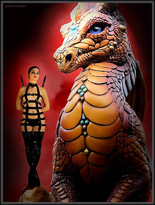 Photograph - Rebel On A Dragon's Knee by Jon Volden