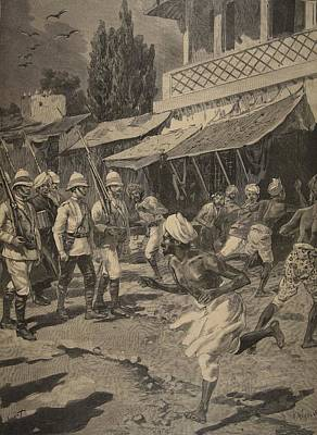 Rebel Drawing - Rebellion In Bombay, Illustration by French School