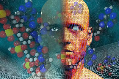 Robotics Digital Art - Rebirth by Carol and Mike Werner