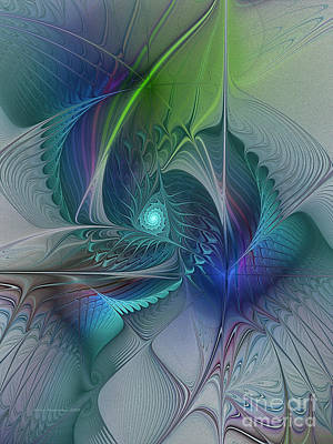 Digital Art - Rebirth-fractal Art by Karin Kuhlmann
