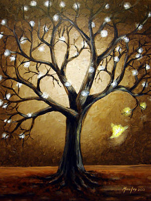 Tree Roots Painting - Rebirth				 by Michael Ivy