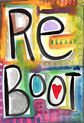 Pop Art Royalty-Free and Rights-Managed Images - Reboot by Linda Woods