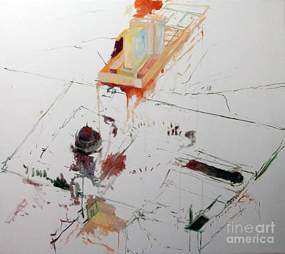 Holy Alphabet Painting - Rebuilding 1 by David Baruch Wolk