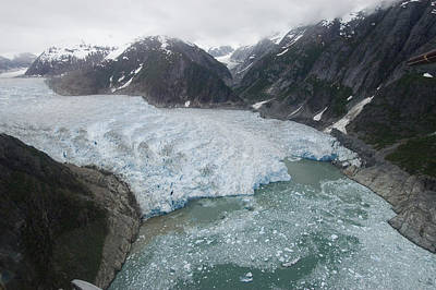 Flip Nicklin Photograph - Receding Glacier Southeast Alaska by Flip Nicklin