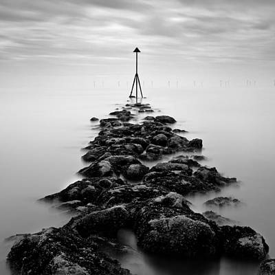 Marker Photograph - Receding Tide by Dave Bowman