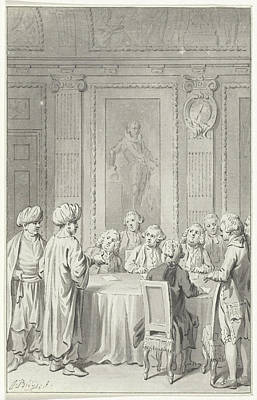 Moroccan Drawing - Receipt Of The Moroccan Envoy By The States General by Quint Lox