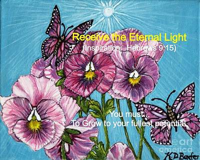 With Scripture Painting - Receiving The Eternal Light by Kimberlee Baxter