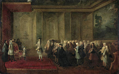 Reception Of Cornelis Hop As Ambassador Of The States Art Print