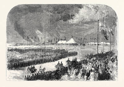 Reception Of The Belgian Riflemen At The Camp On Wimbledon Art Print