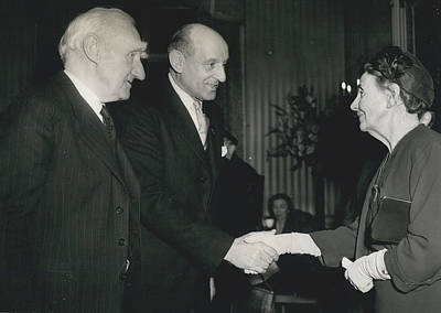 Reception To Mark Award Of Nobel Prize Art Print by Retro Images Archive