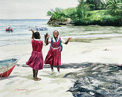 African-american Painting - Recess At The Bay by Colin Bootman