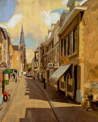 Nederland Painting - Rechtstraat In Maastricht by Nop Briex