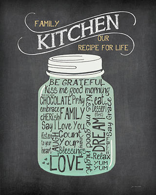Word Art Painting - Recipe Jar by Jo Moulton
