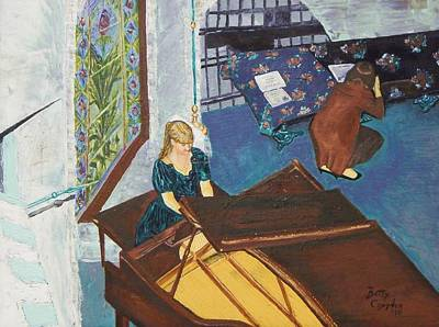 Recital Rehersal Art Print by Betty Compton