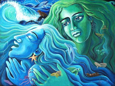 Painting - Reclaiming The Seas by Angela Treat Lyon