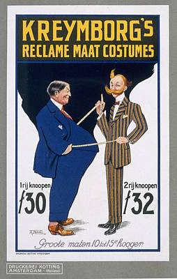Tailor Drawing - Reclame Maat Costumes, Poster by A. von Roessel