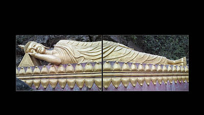 Photograph - Asian Art - Reclining Buddha By Jo Ann Tomaselli by Jo Ann Tomaselli